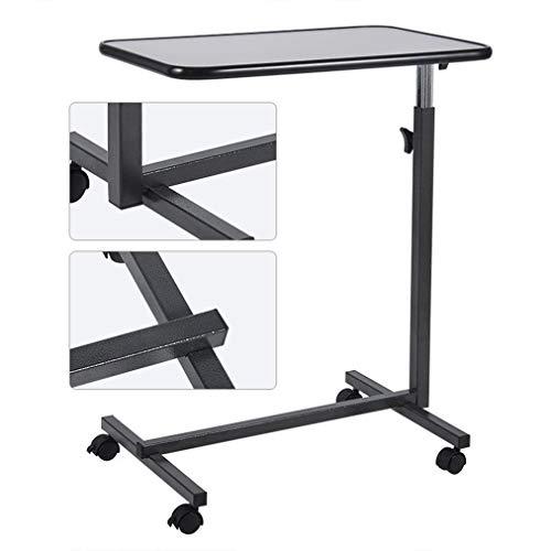 C&X Tavolino-Divano con Ruote fisse, Regolabile sopra Il Comodino, scrivania per Laptop Portatile Medica per Lo Studio della Lettura del Tavolo del Telefono, Nero