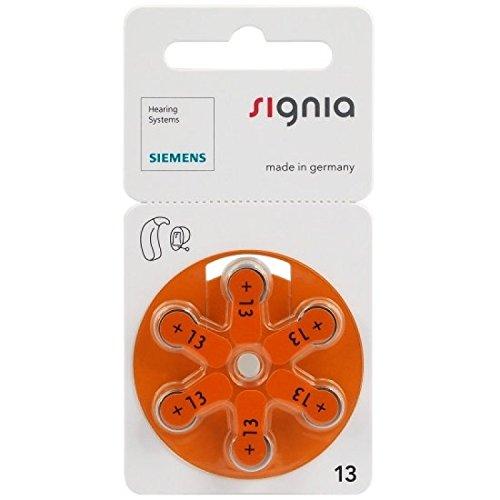 Siemens Signia Hörgerätebatterie Typ 13 Zinc Air S13 PR48 ZL2, 30 Stück