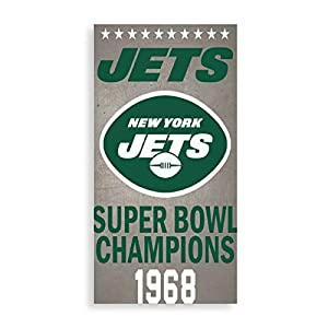 """Lyzelre Stretched and Framed Pictures on Canvas New_York_Jets_ Poster 15.7""""x7.9"""" Wall Hanging Decor for Living Room with Frame"""