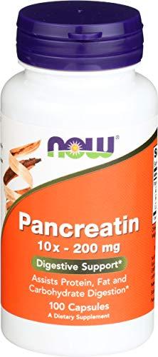 Now Foods Pancreatin 10x-200 mg, 100 kapsules