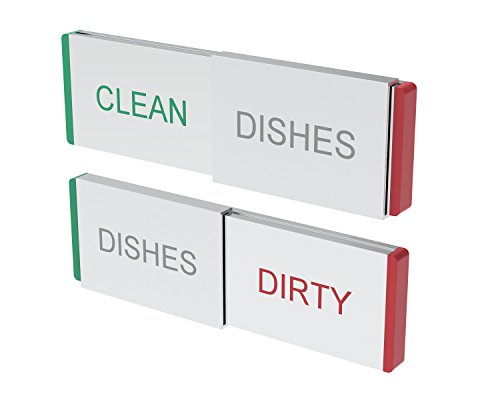 Dishwasher Magnet Clean Dirty Sign - Premium Kitchen Organization Tool - Magnets Work on All Dishwashers - RnR Lifestyle Products