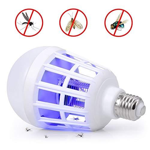 FLLOVE 1PC 2 en 1 Bombilla LED Trampa eléctrica del Insecto del...