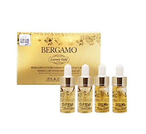 Bergamo Collagen And Caviar Face Serum, 4 Pcs / 13Ml Each, Nutrition For Skin, Normal To Dry Skin