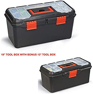 Tool Box | Organizer and Storage For Tools, Fishing Tackle, Toys, Lego, Art, Craft, and Parts 19