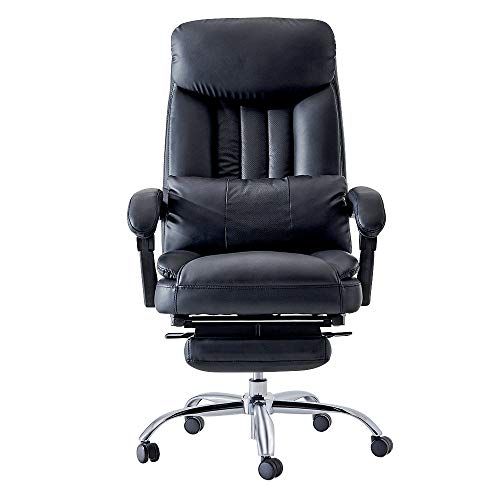 Reclining Computer Chair Home Office Chair Lift Swivel Chair Exectuive Chair High Back Adjustable Chair - Black