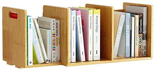 Skrivbordshyllor bambu skrivbord bokhylla justerbar bänkskiva bokhylla kontorsmaterial trä skrivbord organisering tillbehör förvaring ställning display hylla skrivbord S ...