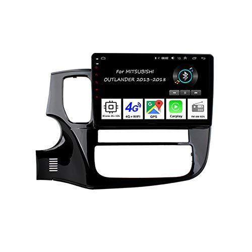 Android 10 Autoradio 9 Pulgadas Coche Radio De Coche Pantalla Tactil para Mitsubishi Outlander XL 2012-2018 4 Cores 2G+32G con Pantalla Coche Conecta Y Reproduce Bluetooth Video SWC