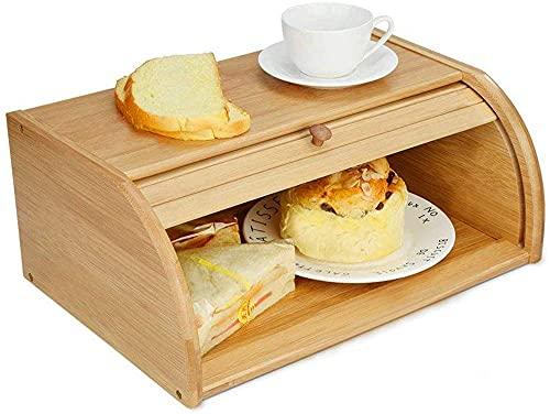 Keuken Opbergdoos Brood Doos Schuifdeksel Bamboe Snack Mand Multifunctionele Voedsel Verzegelde Doos 40 * 27 * 17cm…