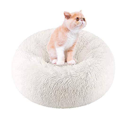 Hoodle bed voor katten, bed voor honden, nestjes, rond, voor huisdieren, extra zacht, comfortabel, lief, kussen voor katten, wasbaar, ovaal, om in te rijgen, geschikt voor katten