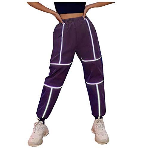 Legging para mujer, pantalones reflectantes para mujer, pantalones deportivos informales para verano, vacaciones