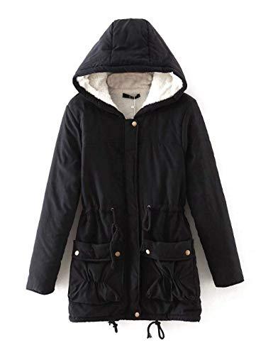 Emmala dames winterjas met capuchon lange stijlvolle jas winterjas parka unicum wintermantel warm gevoerd met teddyvoering