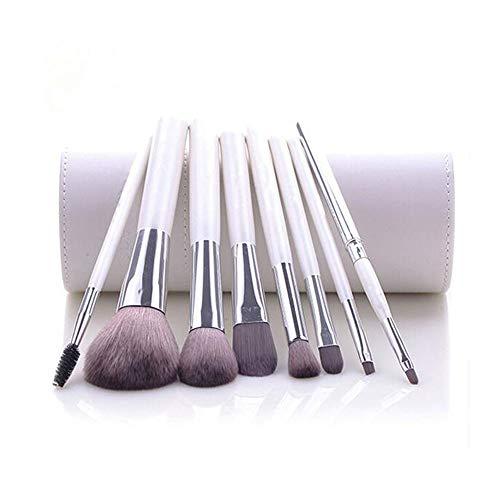 Guotail Maquillage Brosse beauté Maquillage Kit Ombre à paupières Brosse Maquillage Seau Brosse Blush,White