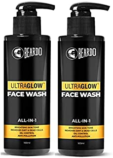 Beardo Ultraglow Facewash For Men, 100 ml (Pack of 2)