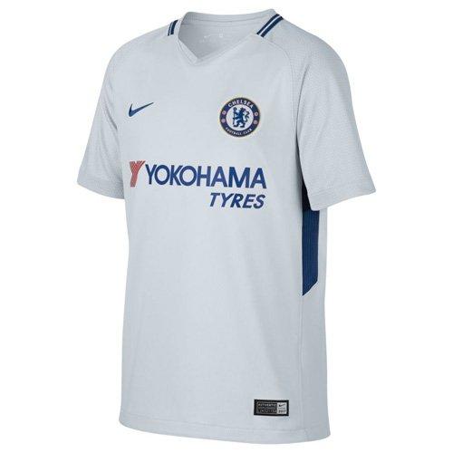 Nike Bambini Breathe Chelsea Stadium Maglia, Bambini, 905540-044, Pure Platinum/Rush Blue, XL