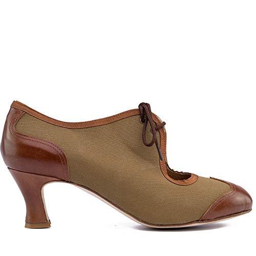 Manuel Reina - Zapatos de Swing de Mujer New Orleans B- Bailar Swing, Tango, Jazz - Tacón de 5 cm (35 EU)