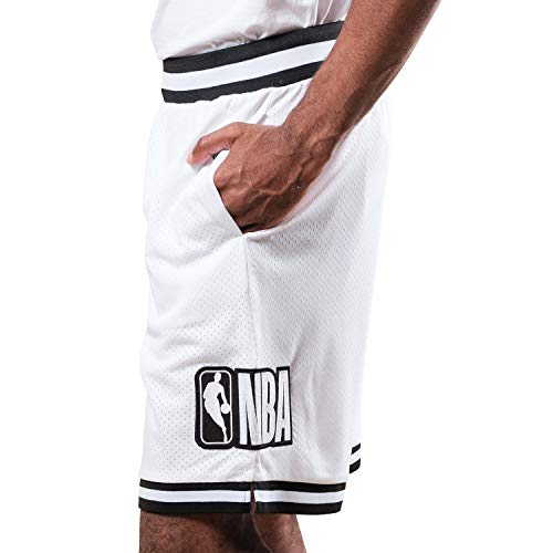 Ultra Game Herren Woven Active Basketball Shorts NBA, Herren, Shorts, Mash Chrome Shorts, weiß, Medium
