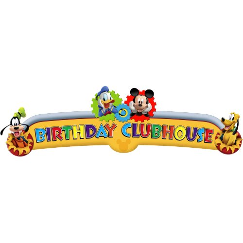 Mickey Mouse 'Playtime' Happy Birthday Banner (1ct) by Hallmark