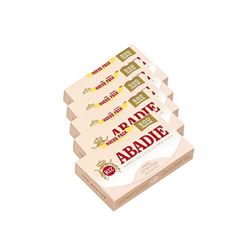 Papel de fumar Abadie 500. 5 libritos de 500 hojas cada uno.