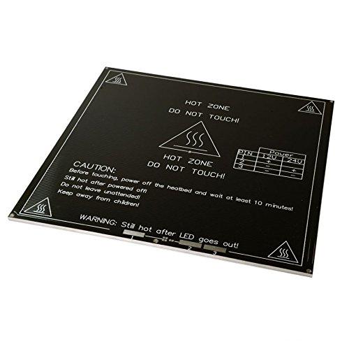 SATKIT MK3 200x200 Aluminum Heatbed Heated Hot Bed RepRap 3D Printer Prusa Upgrade MK2B