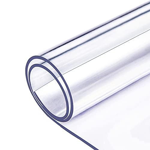 ALGXYQ Alfombrillas antiestáticas para sillas, Alfombrilla de Vidrio de 1,5/2 mm de Grosor para Suelos de Madera y alfombras, 37 tamaños (Color : 2mm, Size : 140x180cm)