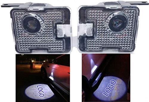 Duleutgnu 2pcs LED Seite unter Spiegel Ghost Projektor Licht Logo Willkommenslicht Auto Ersatz Rücklicht Zubehör Weiße Glaslinse (For Mon-deo)