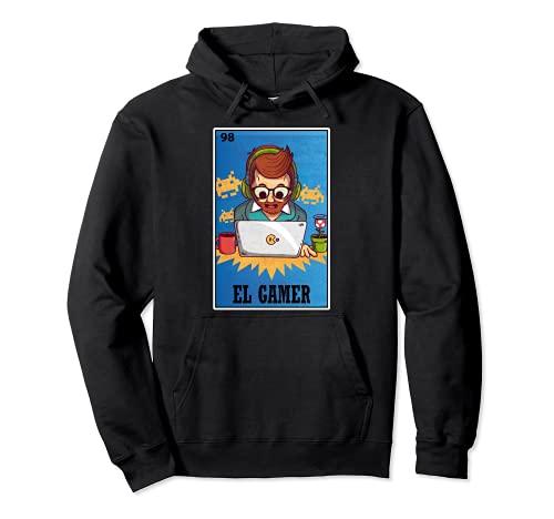 El Gamer - Camiseta de lotería mexicana, divertido juego de cartas de bingo Sudadera con Capucha