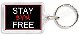 Stay SYN Free (BLK) – Weight Watchers/Slimming World Diet Keyring (Standard: 35x24mm)
