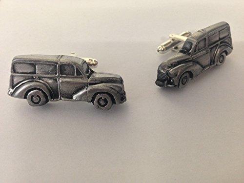 Morris Minor Traveler 3D-Boutons de manchette Homme-Classique-Bouton de manchette en étain effet ref161