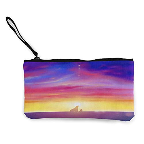 Polar Bear at Sunset Horizon Womens Coin Change Purse Pouch Multipurpose Toiletry Bags Wallet Craft Bag