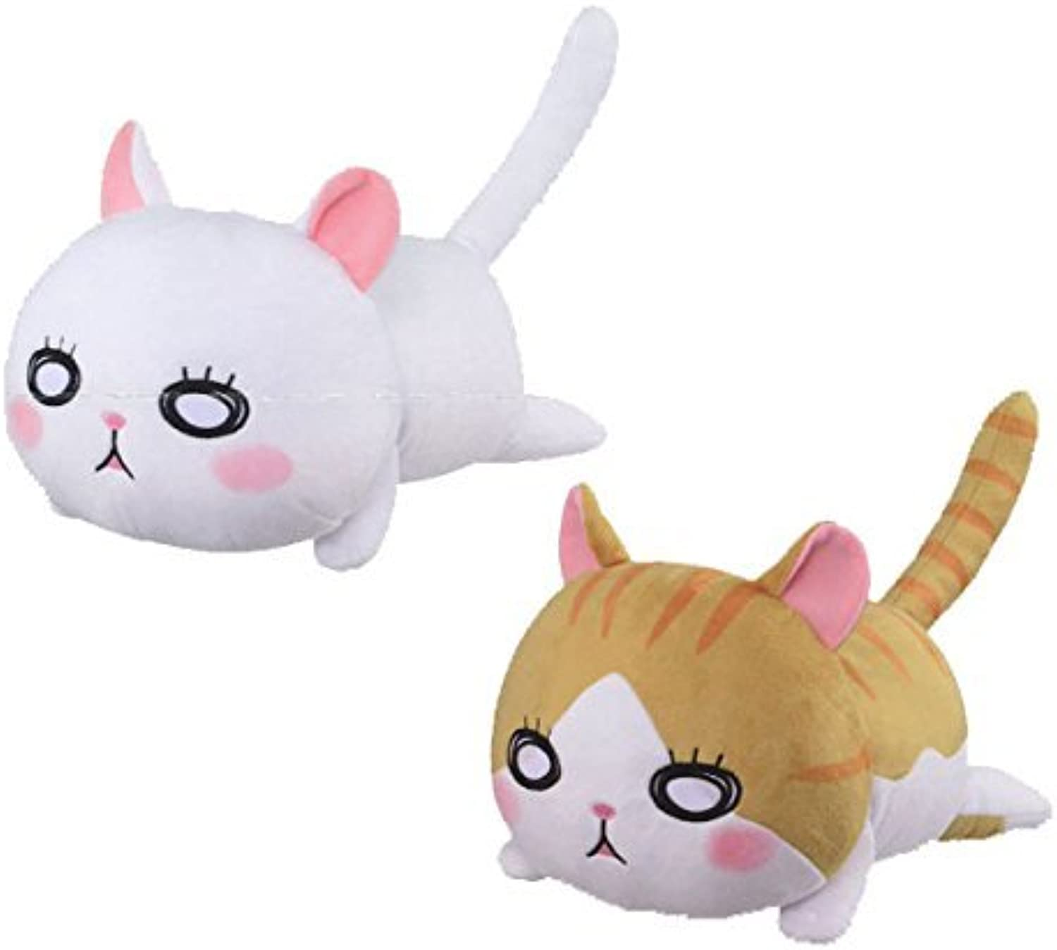 Cats of March of the Lion huge stuffed Kawamoto house Weiß and tiger whole set of 2 prize