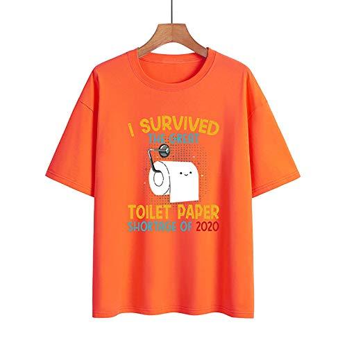 LXHcool Covi_d 19 Coron_aviru_s Survivo_r 2020 Classic T-Shirt, Gift for Men and Women (Color : Orange, Size : XX-Large)