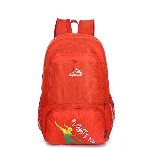 Pennello penna 25L ripiegabile da viaggio leggero pratico zaino da escursionismo daypack-lifetime garanzia rosso Red