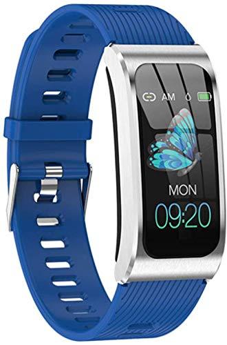 IP68 impermeable Bluetooth reloj inteligente reloj deportivo, pantalla táctil pulsera inteligente, fitness tracker podómetro reloj-azul