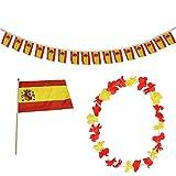 Sonia Originelli FANSET EM Fußball Spanien Spain Girlande Mini Hand Flagge Hawaiikette