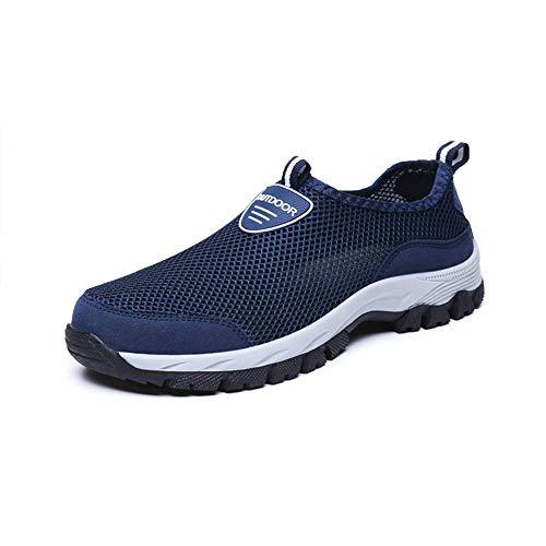 Zapatos Hombre de Agua Escarpines de Playa Descalzo de Malla Secado Rápido Sandalias Deporte Al Aire Libre Zapatillas Negro Gris Azul 39-49 Azul 42