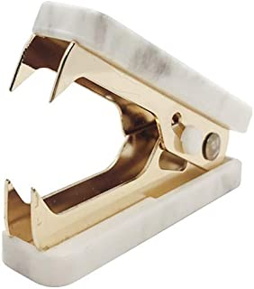 1 Pack Marble Print Staple Remover Gold Glitter Metal Jaws Staples Puller Removal Tool for Home Office School Desk Staplin...
