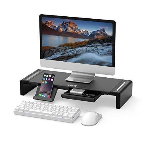 Monitor Stand Riser, Havit Computer Monitor Stand with Drawer,Storage Organizer and Phone Stand for Desk, Monitor, Computer, PC
