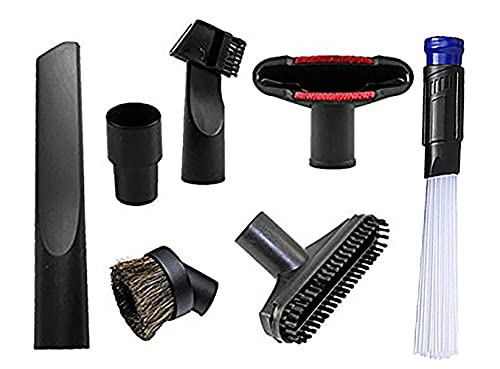 Replacement 1 1/4 inch Vacuum attachments to 1 3/8 inch Vacuum Accessories Cleaning Kit Brush Nozzle Crevice Tool for Standard Hose