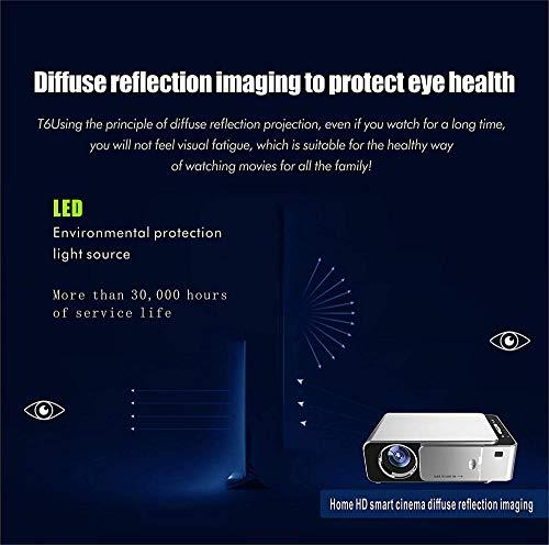 Projektor LED HD Wireless Wifi Projektor mit Bluetooth HDMI Heimkino Outdoor Smart LCD Android Videoprojektor 1080P für iOS Android Handys Laptop TV USB PS4 Blu-ray DVD Filmspiel Mini Projecto-