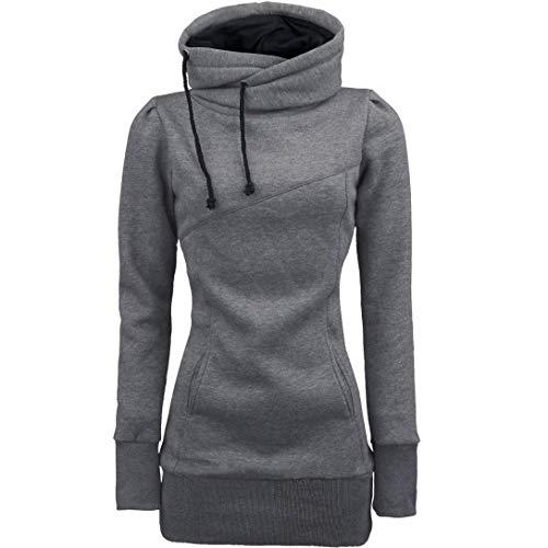MORCHAN❤Femme Automne Hiver Manteau Veste à Capuche Hoodie Shirt Casual Jumper Sport Hauts Tops Pullover Blouse Blouson Sport Sweat Sweatshirt (FR-44/CN-M,Gris-3)