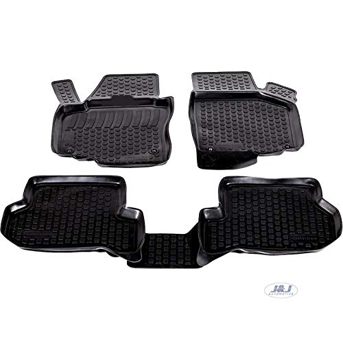 J&J Automotive - Alfombra de suelo de goma 3D exclusiva para Seat Altea XL 2006