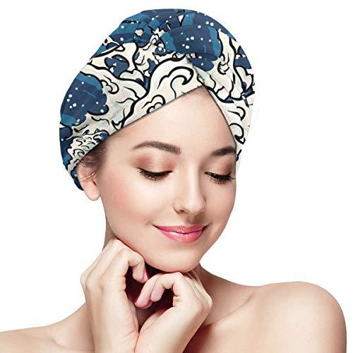QHMY Serviettes de Cheveux de mer Profonde (14) Casquettes de Cheveux à séchage Rapide pour Spa de Bain