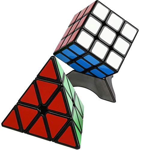 YOTINO Pyraminx Magic Cube 3 * 3 * 3 Speed Magic Cube para Principiantes y avanzados (Juego de 3 Piezas)