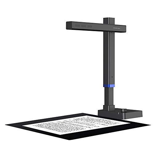 CZUR Shine Ultra Scanner per Libri Portatile, Fotocamera per Documenti, Compatibile con macOS e Windows, Cattura la Dimensione Massima A3, Converte in Formato Lavorabile per Casa Ufficio Biblioteca