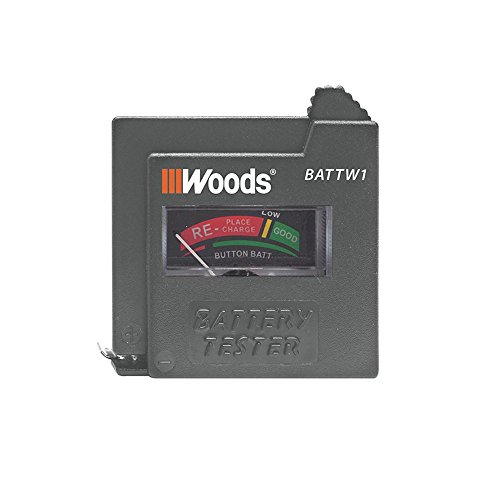 Woods BATTW1 Battery Tester - Tests 9V, AA, AAA, C, D, and...