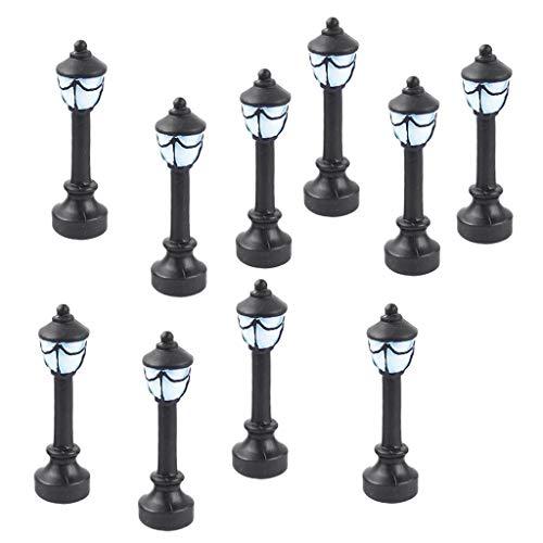 10× Mini Laternen Leuchten Straßenlaternen Parkleuchten Parklaternen