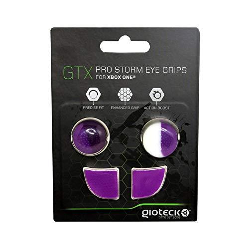Gioteck - GTX XB1 - Funda Protectora de Silicona para Mando Xbox One, Protección para Joysticks, Antideslizante, Precisión Grips para Xbox One Malva y Blanco (Xbox One)