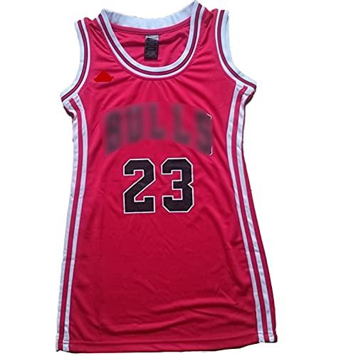 XIAOQSM 23# Vestido De Baloncesto Sudadera De Secado Rápido para Mujer Red- XL