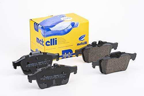 metelligroup 22-0337-1 Pastiglie Freno posteriori, Made in Italy, Pezzo di Ricambio per Auto/Automobile, Kit da 4 Pezzi, Certificate ECE R90, Prive di Rame