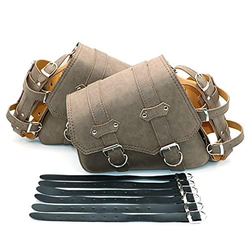 HAIHAOYF Bolsa de Silla de Montar marrón Side Universal Motorcycle Tool Pouch Motocross Saddlebags Luggage Bag (Color Name : A Pair)